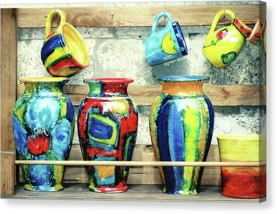 Ceramics Canvas Print - Ceramics, Tuscany by Pamela Fall