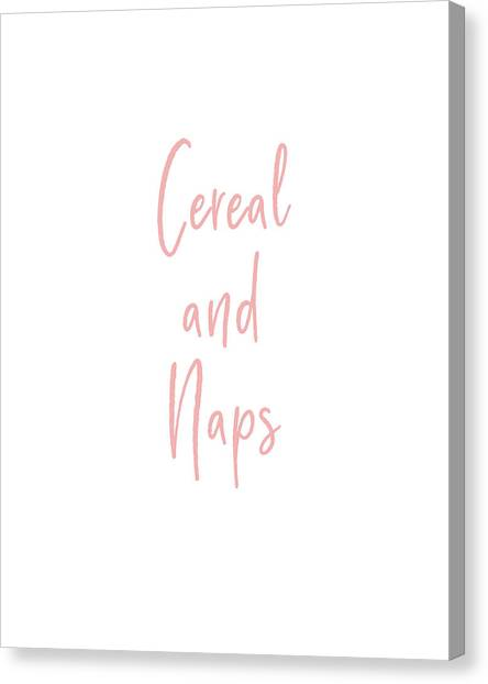Sleep Canvas Print - Cereal And Naps- Art By Linda Woods by Linda Woods
