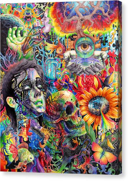Psychedelic Canvas Print - Cerebral Dysfunction by Callie Fink