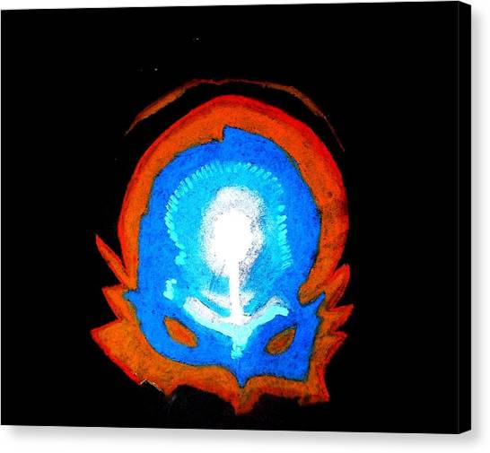 Cerebral Mask Canvas Print