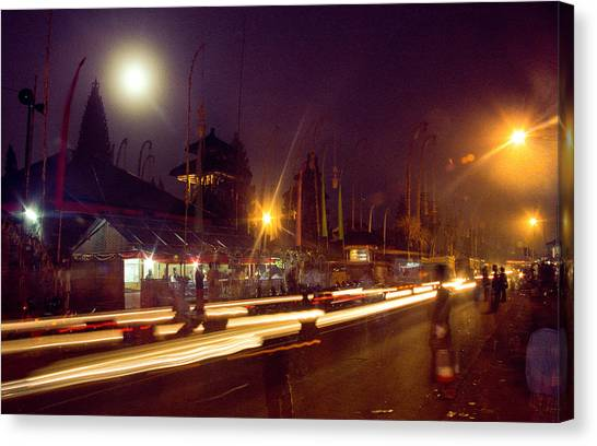 Canvas Print featuring the photograph Ceremonious Crossings by T Brian Jones