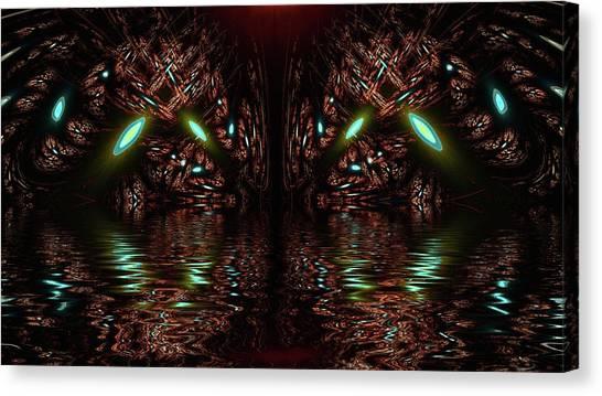 Underwater Caves Canvas Print - Ceres Canals by Burtram Anton