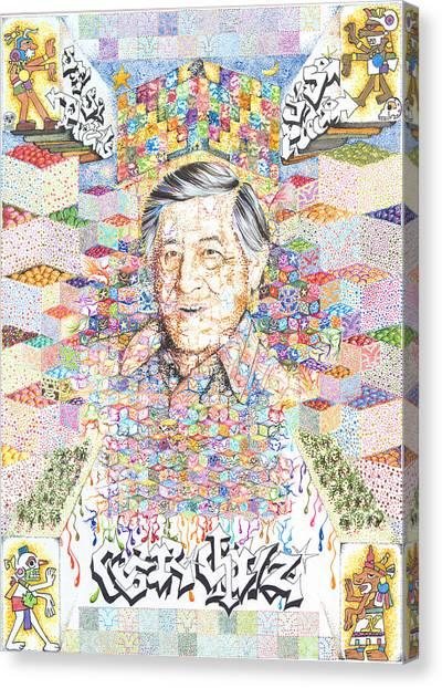 Cesar Chavez- Sombra De Arreguin Canvas Print