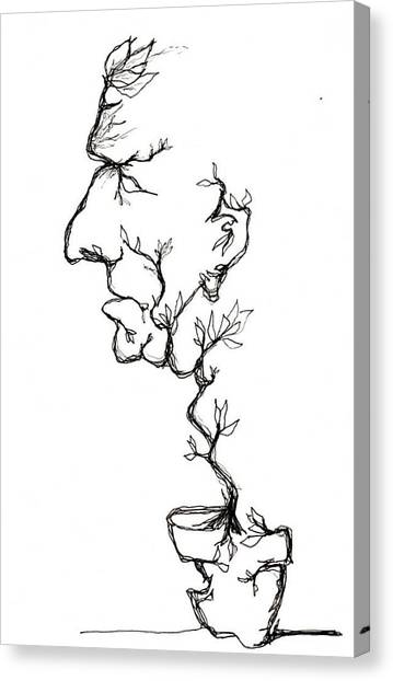 Cesar Salad-cracked Pots Canvas Print