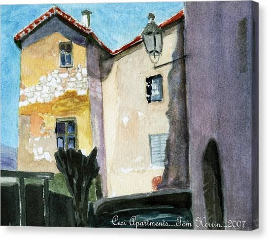 Cesi Apartments Italy Canvas Print by Tom Herrin