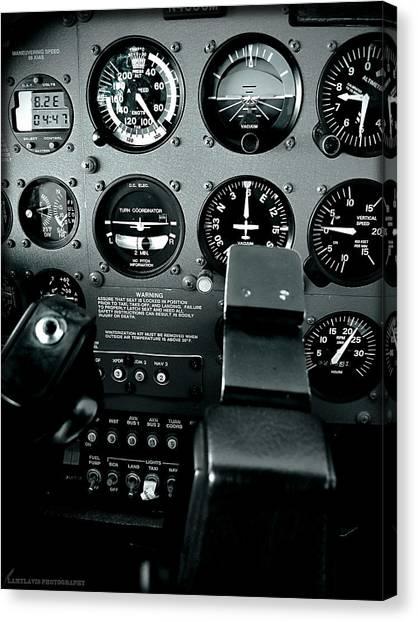 Cessnas Canvas Print - Cessna 172sp Cockpit by Lamyl Hammoudi