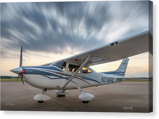 Cessna 182 On The Ramp Canvas Print