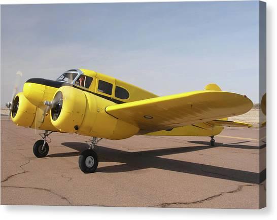 Cessnas Canvas Print - Cessna T-50 Bobcat N59188 Casa Grande Airport Arizona March 5 2011 by Brian Lockett