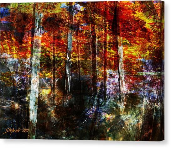 C'est L'automne Canvas Print