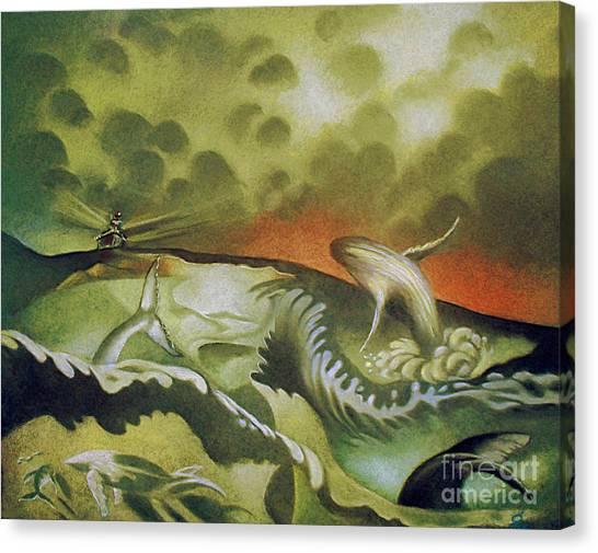 Cetacean Sunset Canvas Print