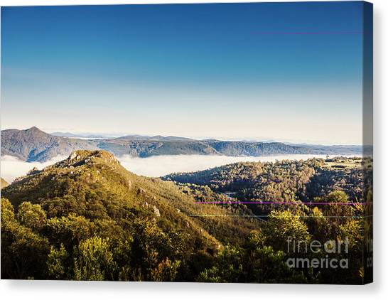 Mountain Ranges Canvas Print - Cethana Range Tasmania by Jorgo Photography - Wall Art Gallery