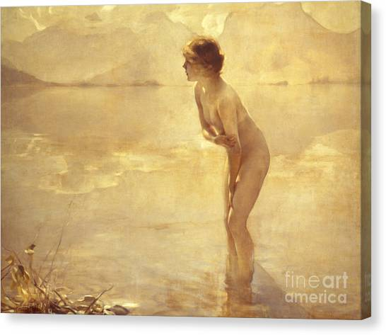 Nudes Canvas Print - Chabas, September Morn by Paul Chabas