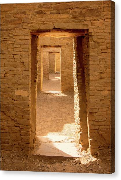 Chaco Ancient Doors   Canvas Print
