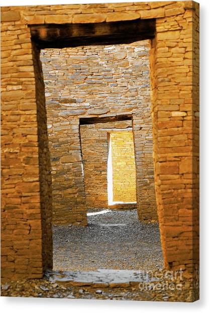 Chaco Canyon Doorways Canvas Print