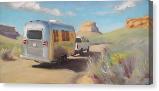 Chaco Canyon Glamping Canvas Print