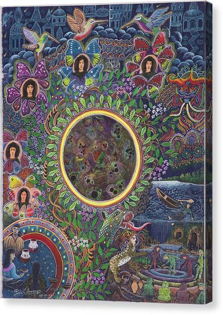 Canvas Print featuring the painting Chacruna Versucum by Pablo Amaringo