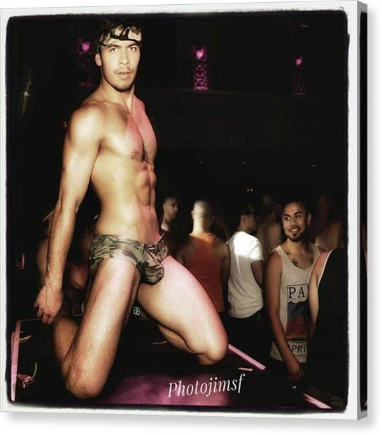 Canvas Print featuring the photograph Chad Stewart. At A Gogo Boy Appearance by Mr Photojimsf