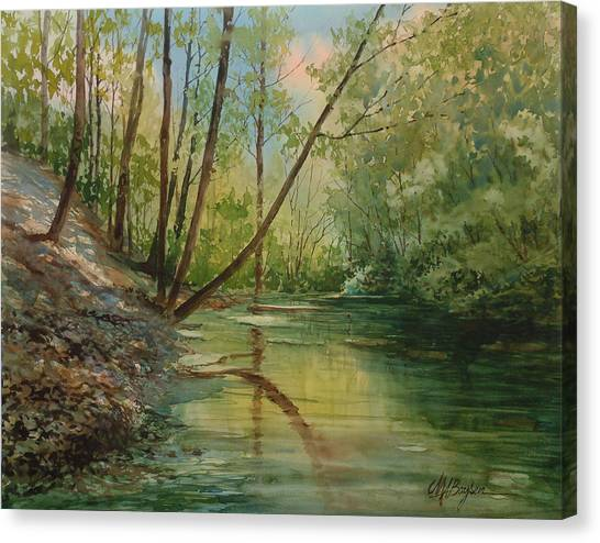 Chagrin River In Spring Canvas Print