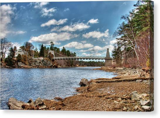 Chain Bridge On The Merrimack Canvas Print
