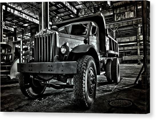 Dump Trucks Canvas Print - Chain Drive Sterling by Luke Moore