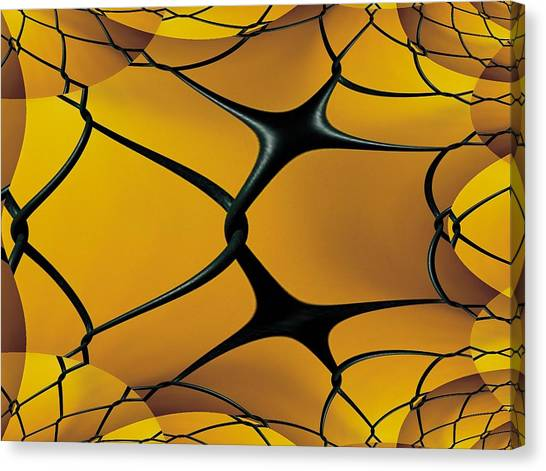 Chain Link Fence Canvas Print - Chain Link Fractal by Tim Allen