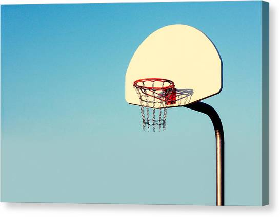 Basketball Canvas Print - Chain Net by Todd Klassy