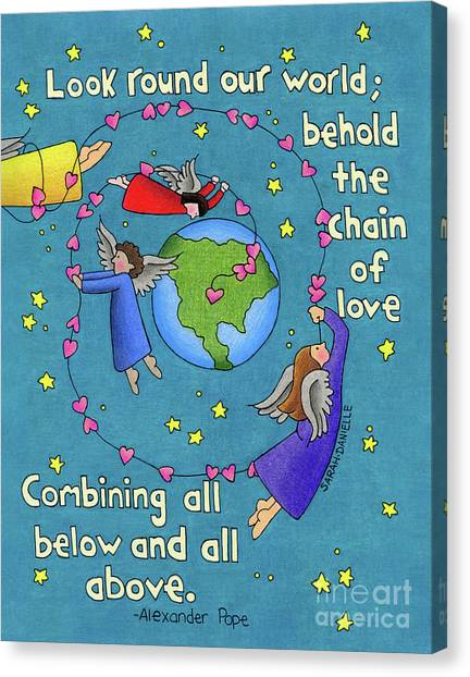 God Canvas Print - Chain Of Love by Sarah Batalka