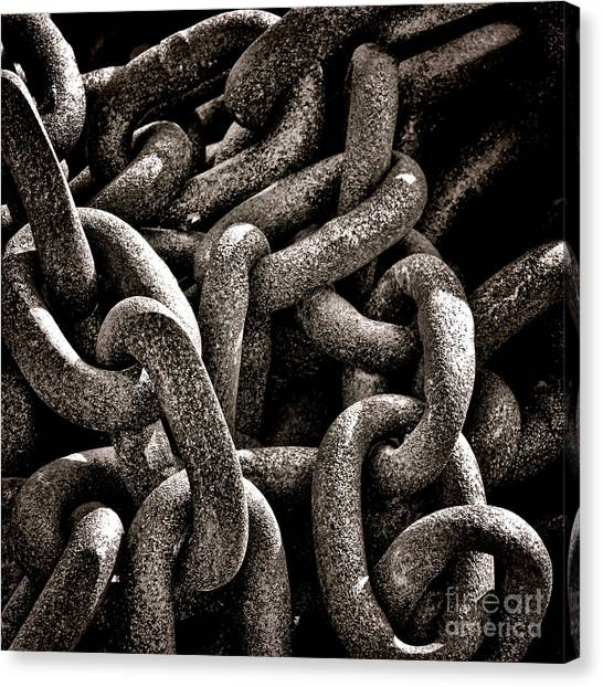 Chain Link Canvas Print - Chained  by Olivier Le Queinec