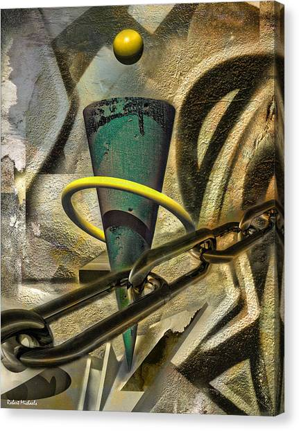 Chained Visions Canvas Print by Robert Michaels