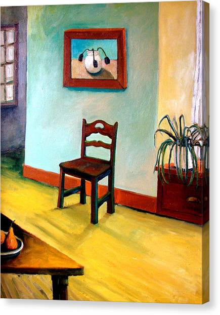 Chair And Pears Interior Canvas Print