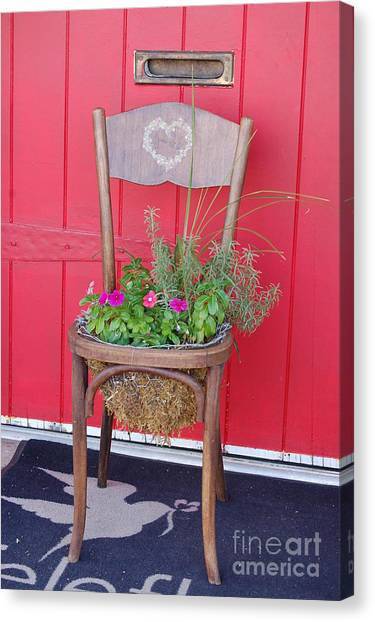 Chair Planter Canvas Print