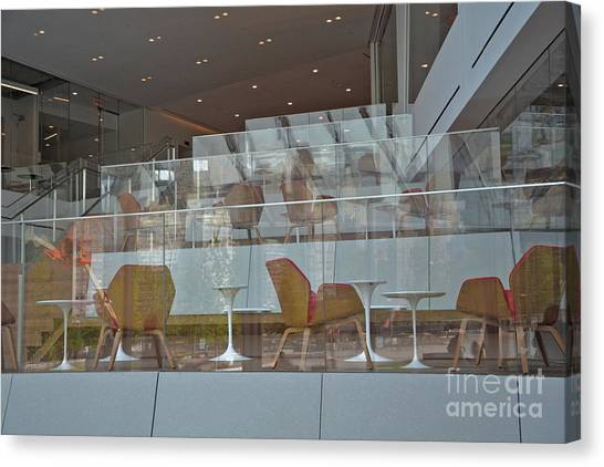 Chair Reflections Canvas Print by Andrea Simon