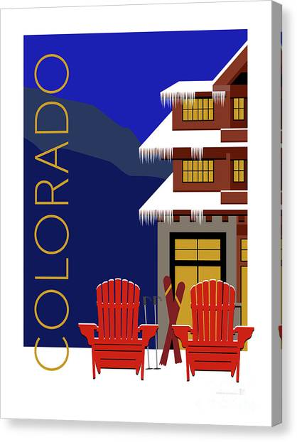 Colorado Chairs Canvas Print