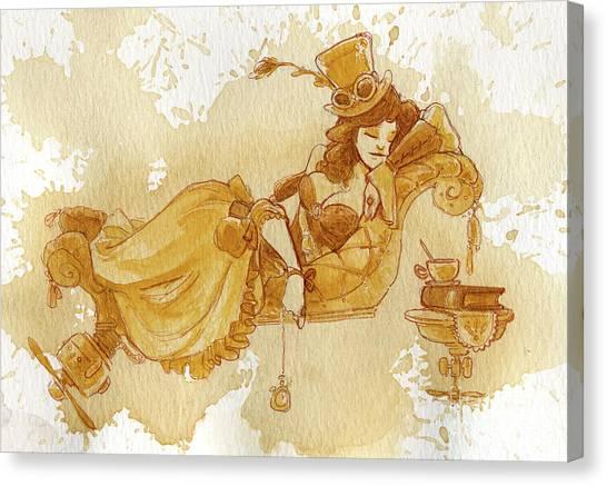 Steampunk Canvas Print - Chaise by Brian Kesinger