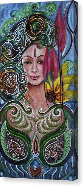 Chakra Mandla Canvas Print
