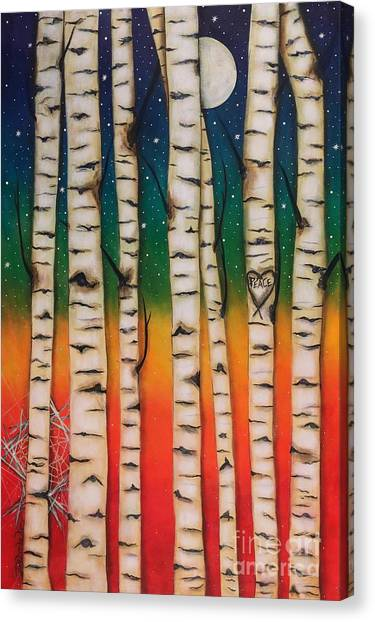 Chakra Rainbow Forest Canvas Print