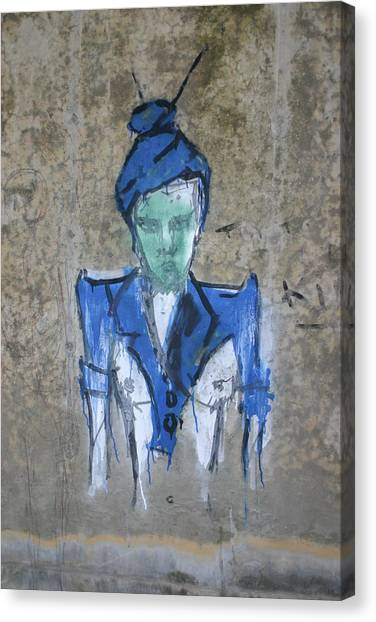 Chalk Person Canvas Print by Dennis Curry