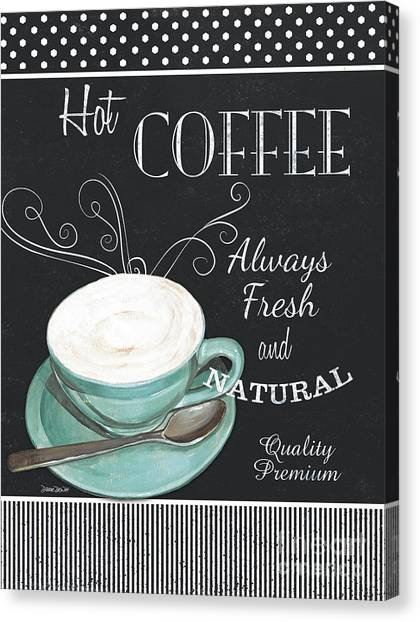 Bistros Canvas Print - Chalkboard Retro Coffee Shop 1 by Debbie DeWitt