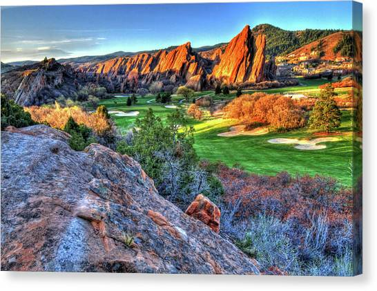 Golf Course Canvas Print - Challenge by Scott Mahon