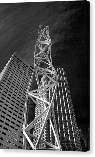 Challenger Memorial In Miami Canvas Print by William Wetmore