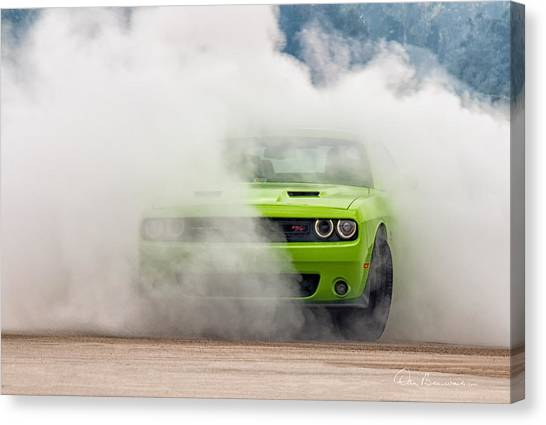 Challenger Smoke Canvas Print
