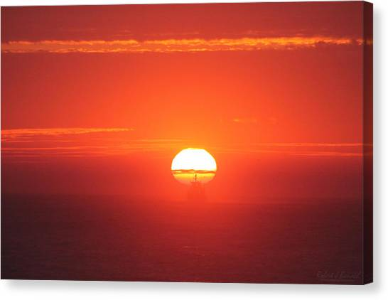 Challenging The Sun Canvas Print