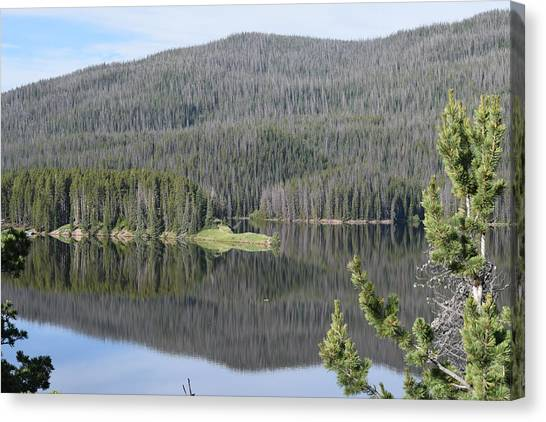 Chambers Lake Hwy 14 Co Canvas Print
