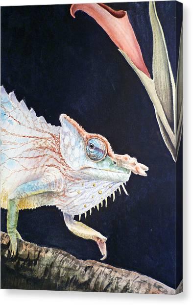 Lizards Canvas Print - Chameleon by Irina Sztukowski
