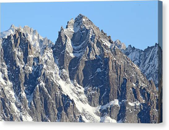 Ice Climbing Canvas Print - Chamonix- Mountaineers Paradise by Pat Speirs