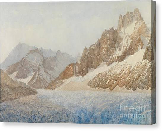 Mountain Ranges Canvas Print - Chamonix by SIL Severn
