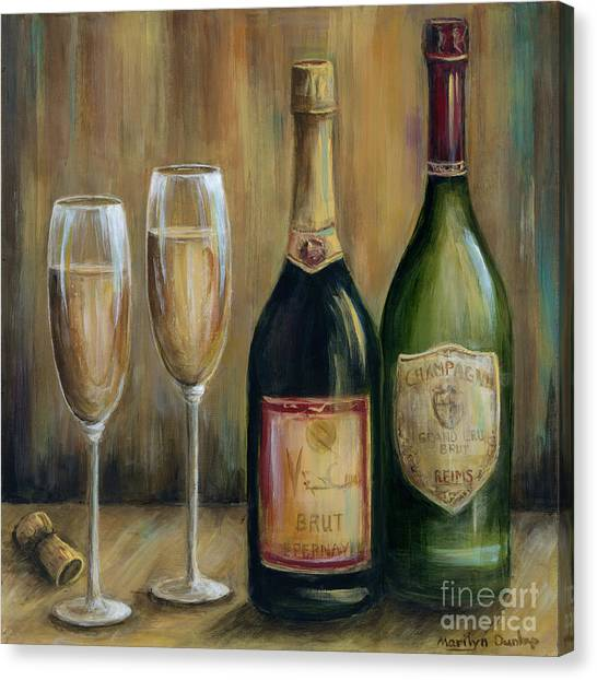 Champagne Canvas Print - Champagne Celebration by Marilyn Dunlap
