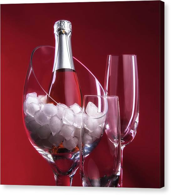 Champagne Canvas Print - Champagne For Two by Tom Mc Nemar