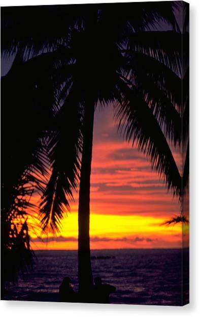 Travelpics Canvas Print - Champagne Sunset by Travel Pics