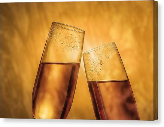 Champagne Canvas Print - Champagne Toast by Tom Mc Nemar
